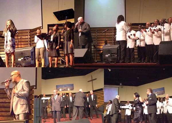 Celebration time at Men Gospel Concert
