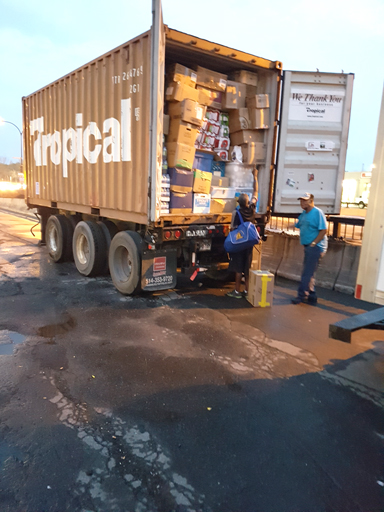 One container off to Antigua-Barbuda. More help needed