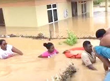 Flood waters cover large parts of T&T