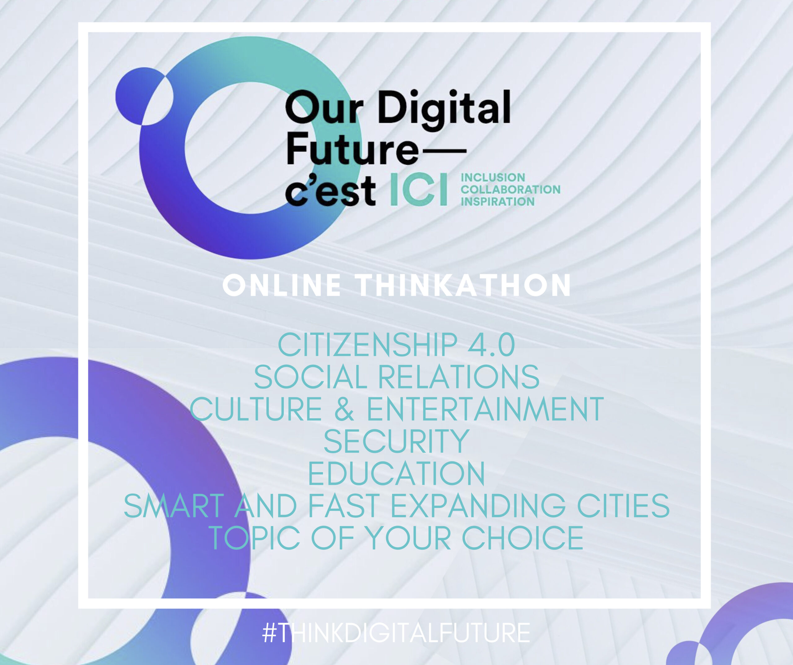 MAKE YOUR VOICE HEARD ON OUR DIGITAL FUTURE.